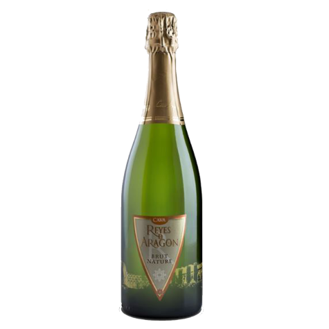Vinho Espumante Cava Reyes d Aragon Brut Nature 750 mL