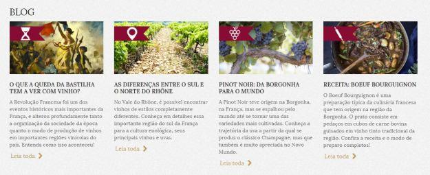 Notícias sobre o mundo do vinho, artigos sobre regiões e uvas, dicas práticas e receitas imperdíveis