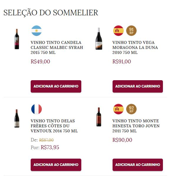 Nossos Sommeliers sempre darão dicas de vinhos para descobrir.