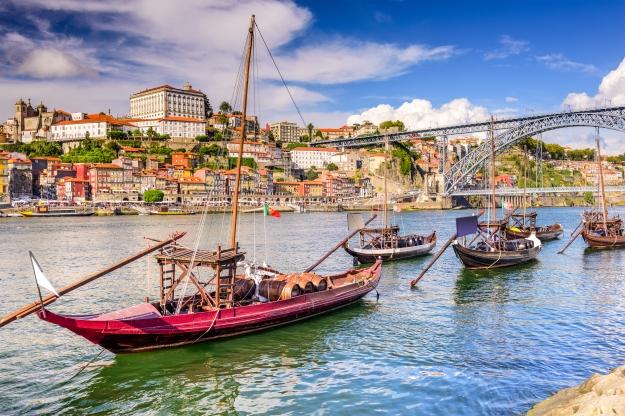 Barco de Rabelo no Rio Douro