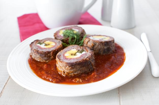 O Braciole (bife à rolé), famoso prato da região de Puglia, na Itália.